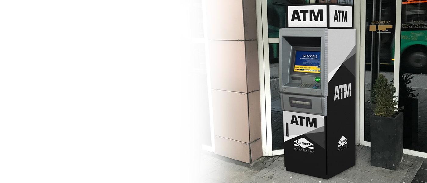 """Pasiūlykite savo klientams papildomą paslaugą su """"Euronet"""" bankomatu."""